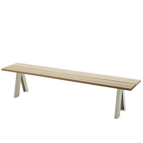 Skagerak Overlap bench, white legs