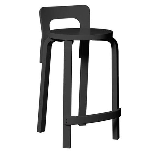 Artek Aalto K65 high chair, black