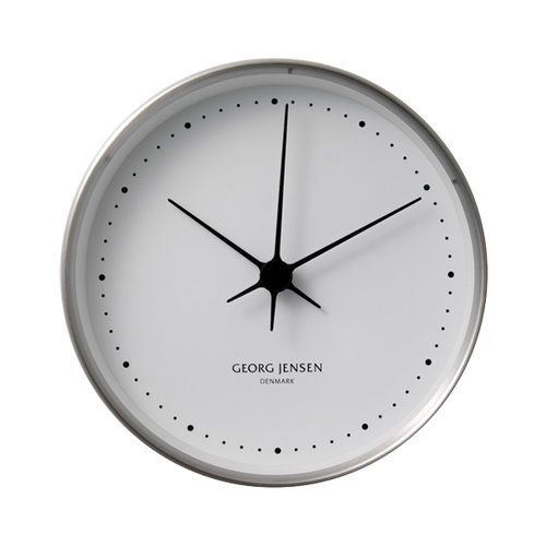 Georg Jensen HK Clock stainless steel, small