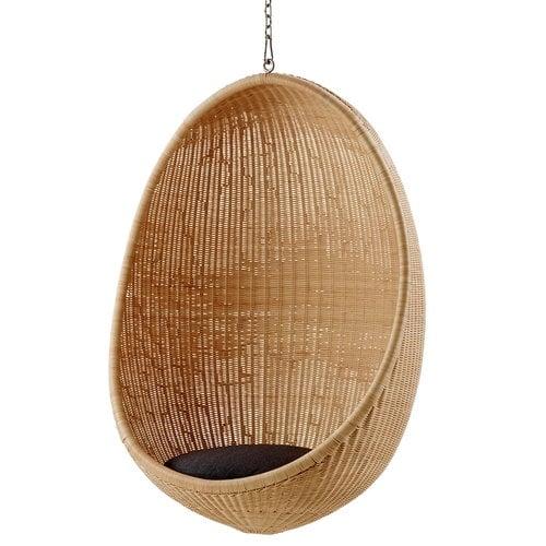 Sika-Design Hanging Egg riippukeinu, tummanharmaa istuintyyny