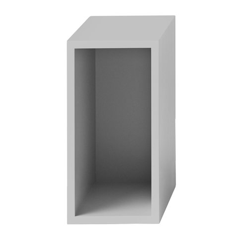 Muuto Stacked shelf module with backboard small, light grey