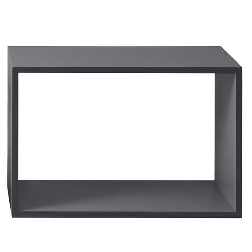 Muuto Stacked shelf module large, dark grey