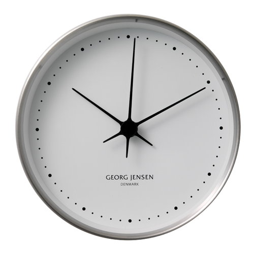 Georg Jensen HK Clock stainless steel, large