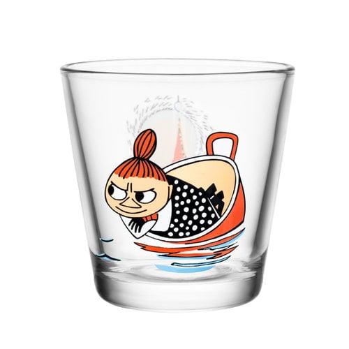 Iittala Moomin glass 21 cl, Little My floating