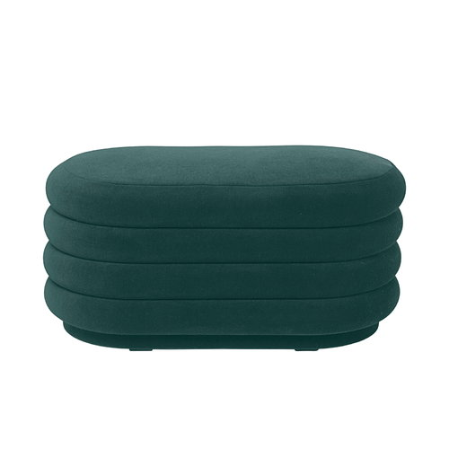 Ferm Living Pouf Oval, medium, dark green