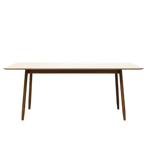 Massproductions Icha table, walnut - pearl white