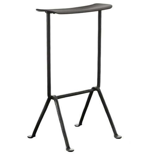 Magis Officina bar stool, high, galvanized, black