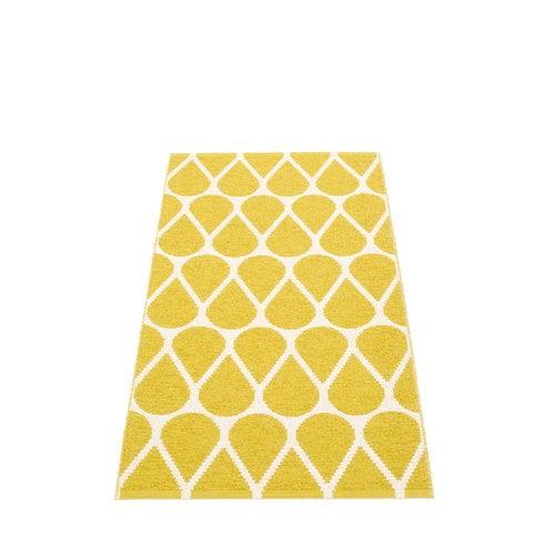 Pappelina Otis rug 70 x 140 cm, mustard - vanilla
