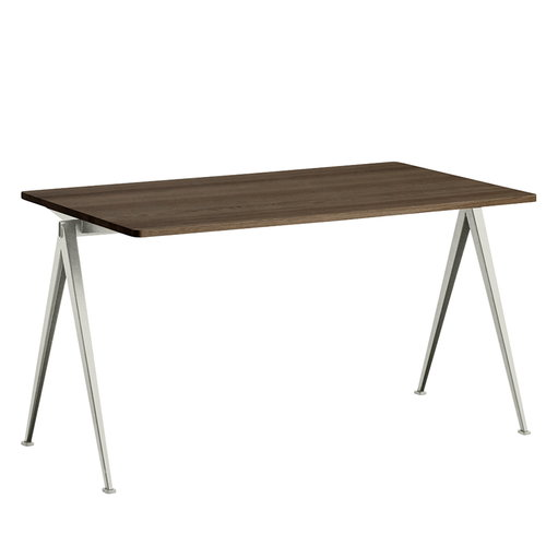 Hay Pyramid table 01, beige - smoked oak