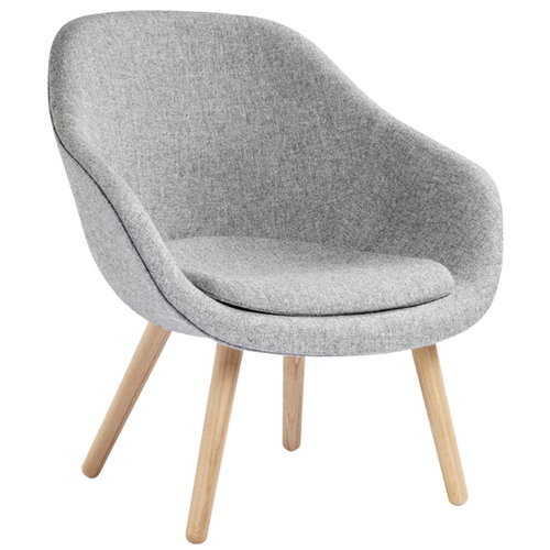 Hay About a Lounge Chair AAL82 con cuscino, bassa