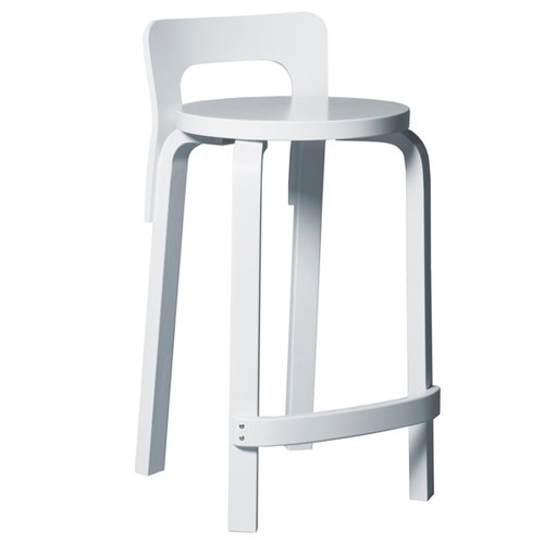 Artek Aalto K65 high chair, white