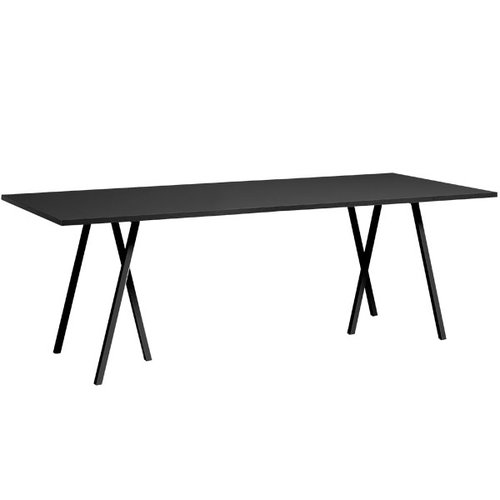 Hay Loop Stand table 180 cm, black
