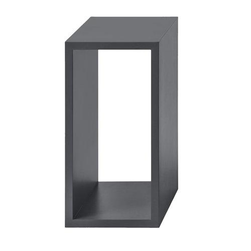 Muuto Stacked shelf module small, dark grey