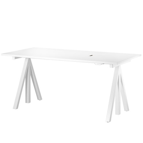 String String works height adjustable table 160 cm, white