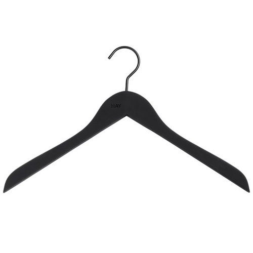 Hay Soft coat hanger slim, black, 4 pcs