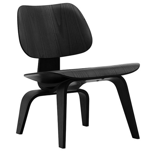 Vitra Plywood Group LCW lounge chair, black