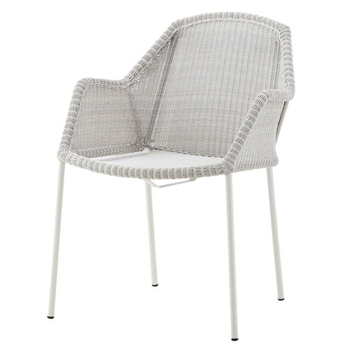 Cane-line Breeze dining chair, stackable, white