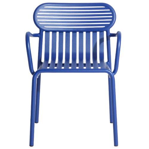 Petite Friture Week-end käsinojallinen tuoli, sininen
