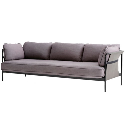 Hay Can sofa 3-seater, black-grey frame, Surface 670
