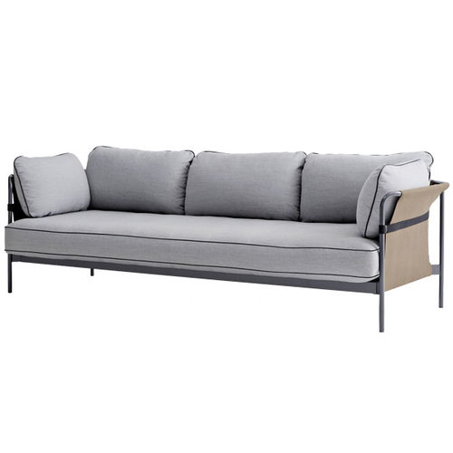 Hay Can sofa 3-seater, grey-army frame, Surface 120