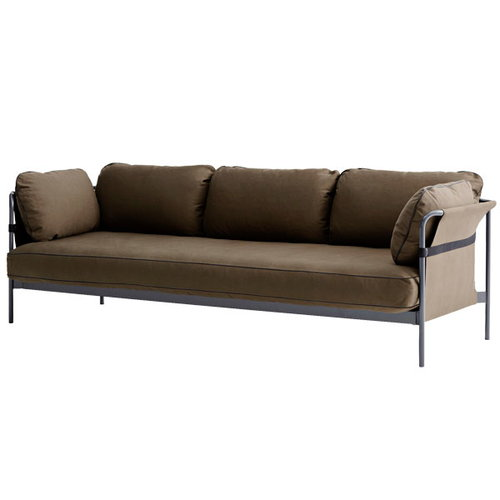 Hay Can sofa 3-seater, grey-army frame, Army Canvas