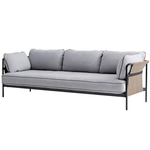 Hay Can sohva 3-istuttava, musta-army runko, Surface 120