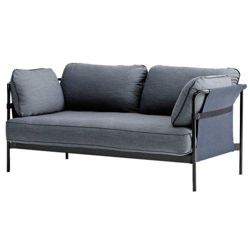Hay Can sohva 2-istuttava, musta-sininen runko, Surface 990