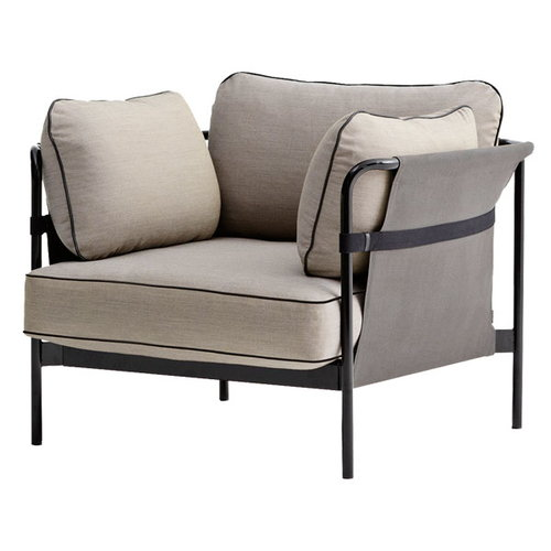 Hay Can 1-seater, black-grey frame, Surface 420