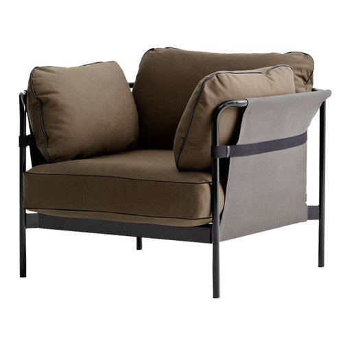 Hay Can 1-seater, black-grey frame, Army Canvas