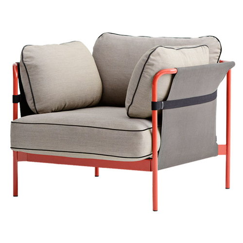 Hay Can 1-seater, red-grey frame, Surface 420