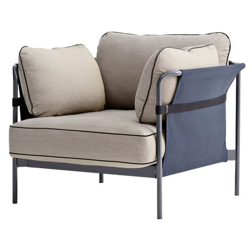 Hay Can 1-seater, grey-blue frame, Surface 420