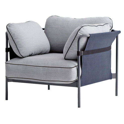 Hay Can 1-seater, grey-blue frame, Surface 120