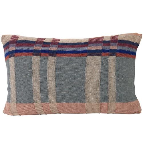 Ferm Living Medley Knit cushion, large, dusty blue