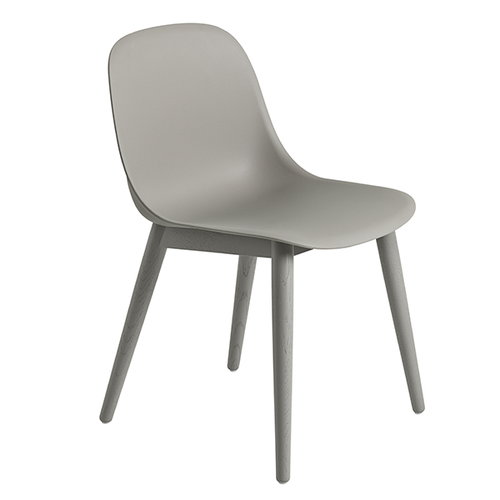 Muuto Fiber side chair, wood base, grey