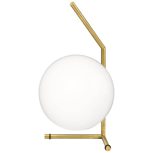 Flos IC T1 table lamp, low, brass