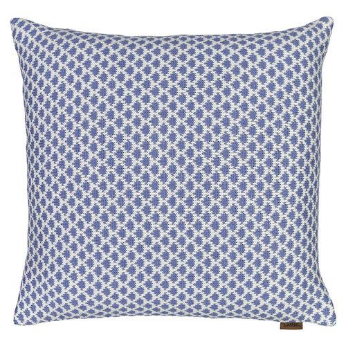 Langø Drops tyynynpäällinen, villa, denim-valkoinen