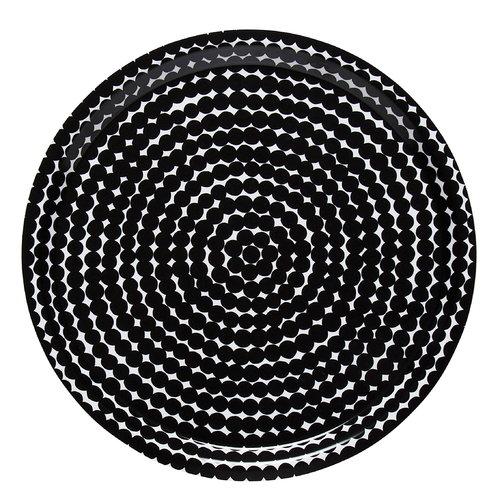 Marimekko R�symatto tray 31 cm, black-white
