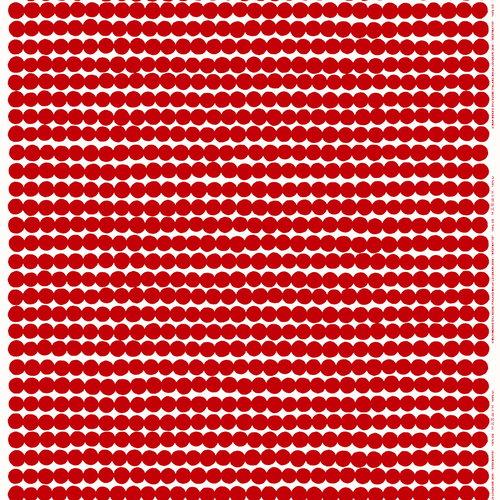 Marimekko R�symatto fabric, red-white