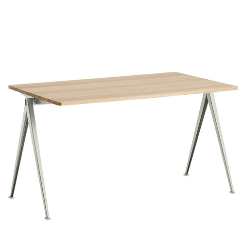 Hay Pyramid table 01, beige - matt lacquered oak