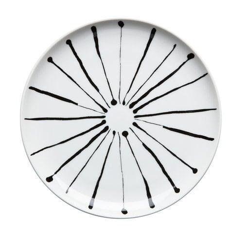 R�rstrand Filippa K plate 19 cm, Ink stripe
