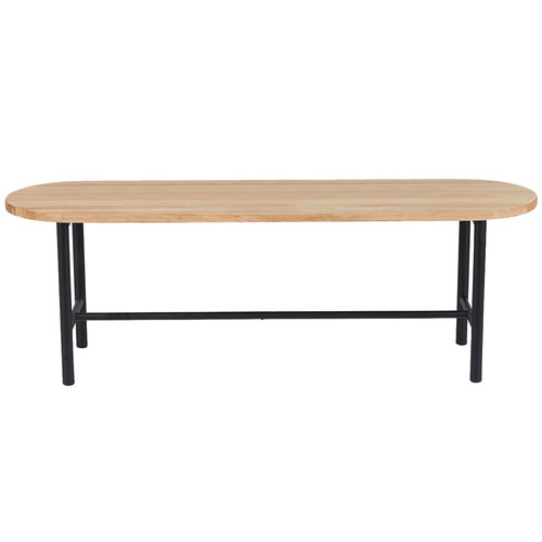 Warm Nordic Be My Guest bench, white oiled oak