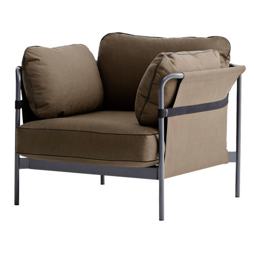 Hay Can 1-seater, grey-army frame, Army Canvas
