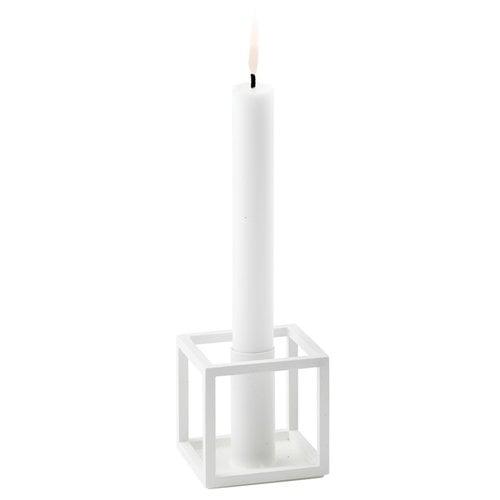 By Lassen Kubus 1 candleholder, white
