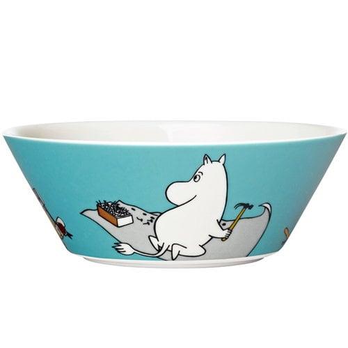 Arabia Moomin bowl Moomintroll, turquoise