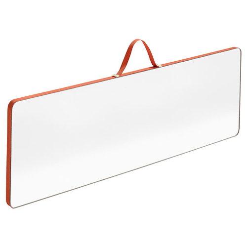 Hay Ruban rectangular mirror, L, red