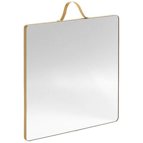 Hay Ruban square mirror, L, nude