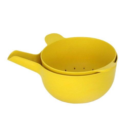 Ekobo BIOBU Pronto kulho ja siivil�, S, keltainen