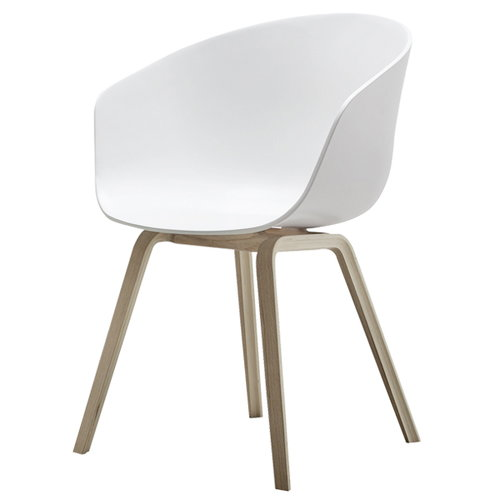 Hay About A Chair AAC22, white - matt lacquered oak