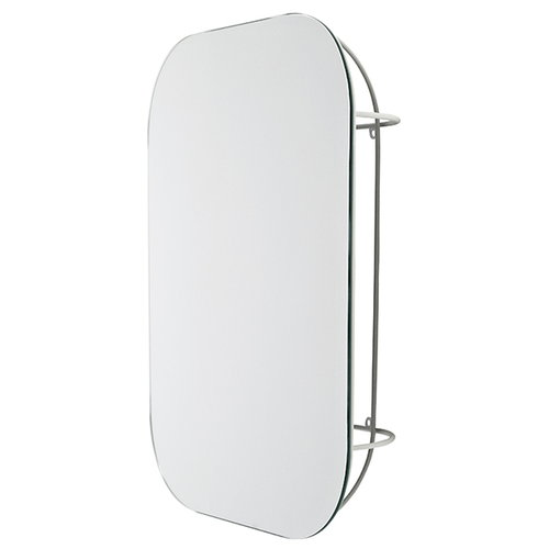 Menu Cage mirror, white