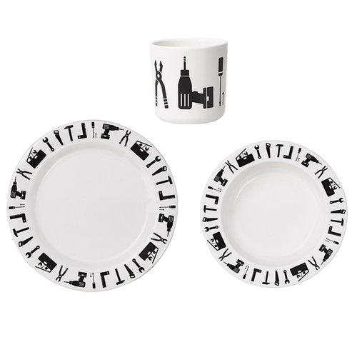 Design Letters Tool School melamine set